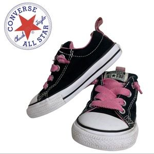 Convers All Star Black & Pink Sneakers size 7